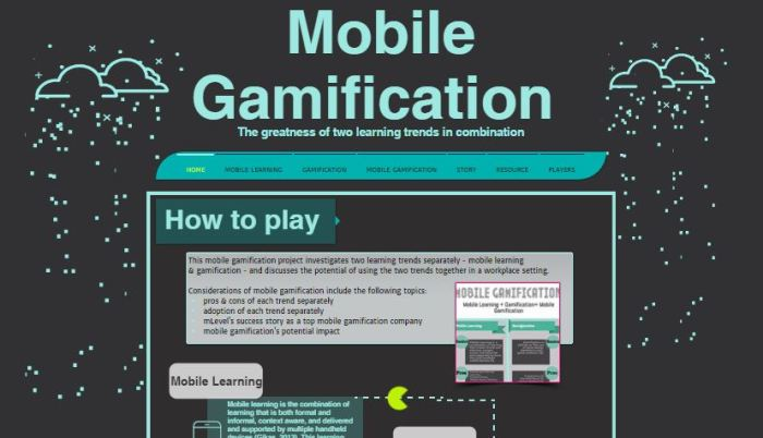 Team Project, Trends and Issues in E Learning, Mobile Gamification