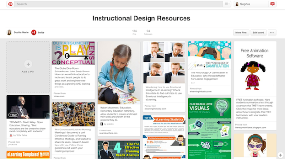 Instructional Design Pinterest Board