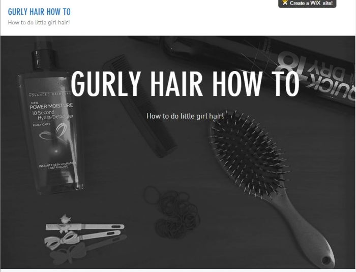 Capture of Gurly Hair How To website.